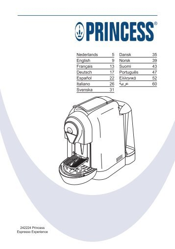 Princess Espresso Experience - 242224 - 242224_Manual.pdf
