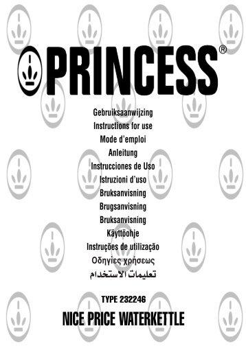 Princess Nice Price Water Kettle [UK] - 232246 - 232246_Manual.pdf