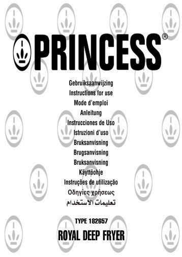 Princess Friggitrice Royal - 182657 - 182657_Manual.pdf