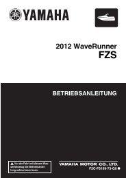 Yamaha FZS SVHO - 2012 - Manuale d'Istruzioni Deutsch