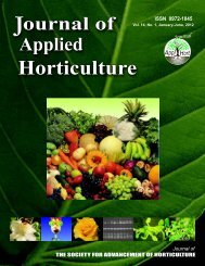 journal of applied horticulture 14(1) IndexingNFS