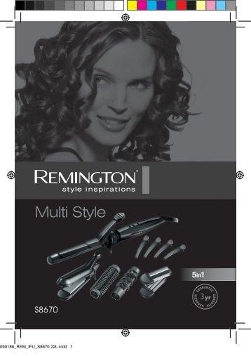 Remington S8670 - S8670 mode d'emploi