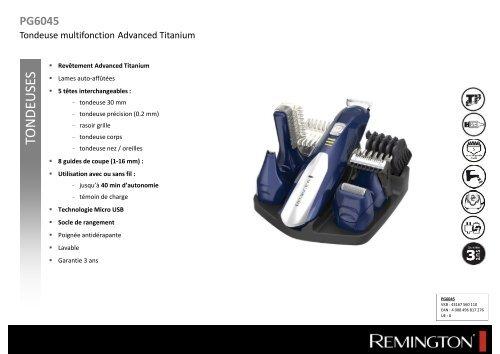 Remington Tondeuse multi usages Remington PG6045 - fiche produit 52b004624e8