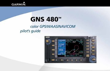 Garmin CNX 80 - GNS480 Pilots Guide (190-00502-00 rev D)