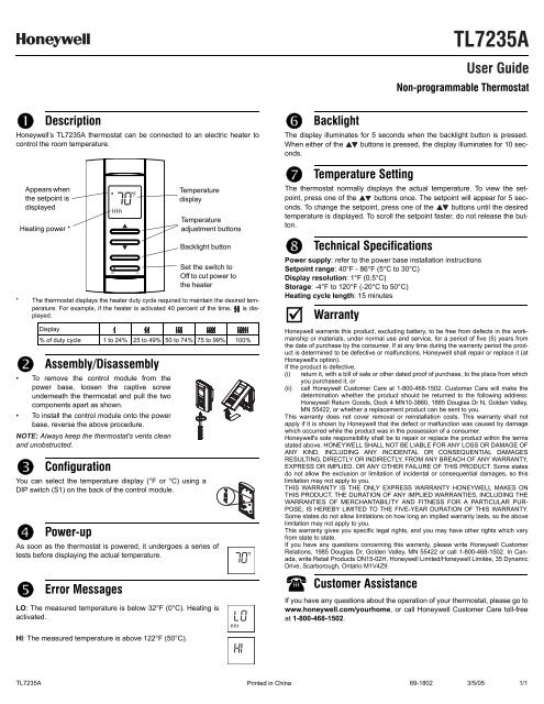 Honeywell Digital Non Manual Guide