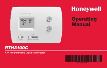 Honeywell Digital Non-Programmable Thermostat - Heat Pump (RTH3100C) - Digital Non-Programmable Thermostat Operating Manual (English,French)