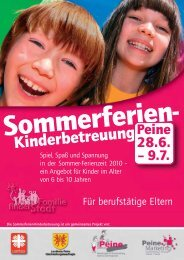 Kinderferienbetreuung2010:Layout 1.qxd - Peine Marketing GmbH