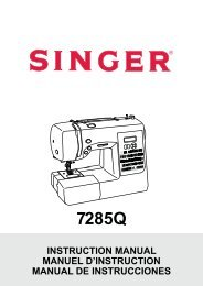 Singer Experience 400 - Notice