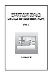 Singer Futura 4060 - Notice