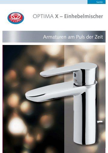 OPTIMA X – Einhebelmischer - Heinrich Schmidt GmbH & Co. KG