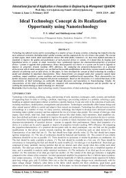Ideal Technology Concept & its Realization Opportunity using Nanotechnology