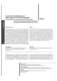 Perineale Wundheilung - Klinikum Peine