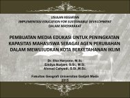 PEMBUATAN MEDIA EDUKASI UNTUK PENINGKATAN KAPASITAS MAHASISWA SEBAGAI AGEN PERUBAHAN DALAM MEWUJUDKAN KOTA BERKETAHANAN IKLIM