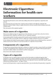 Electronic Cigarettes Information for health care workers