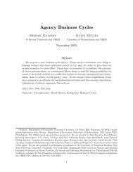 Agency Business Cycles