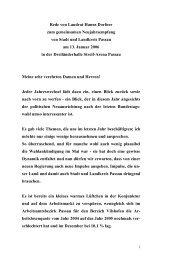Rede von Landrat Hanns Dorfner zum ... - Landkreis Passau