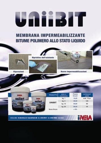 Guaina Liquida www.iivela.it Catalogo-UNIIBIT e Accessori per Membrane Liquide