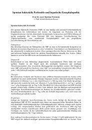Spontan bakterielle Peritonitis und hepatische Enzephalopathie