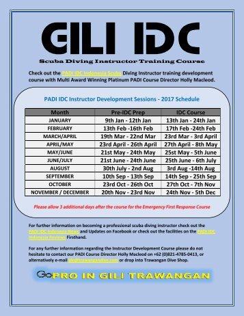 PADI IDC Indonesia 2017 with Holly Macleod, Multi Award Winning Platinum PADI Course Director