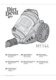 Dirt Devil M1144 - Bedienungsaneleitung Dirt Devil M1144
