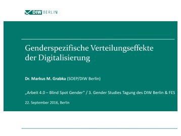 Genderspezifische Verteilungseffekte der Digitalisierung