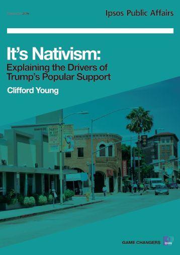 It's Nativism