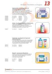 Reinigung, Desinfektion und Hygiene