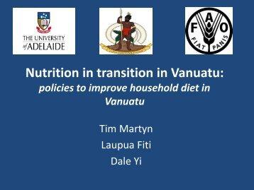 Nutrition in transition in Vanuatu