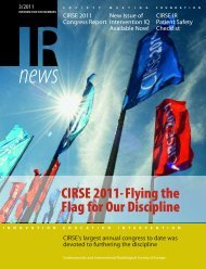 CIRSE 2011- Flying the Flag for Our Discipline - CIRSE.org