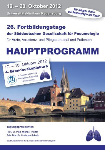 Programm Samstag, 20.10.2012 - SDGP