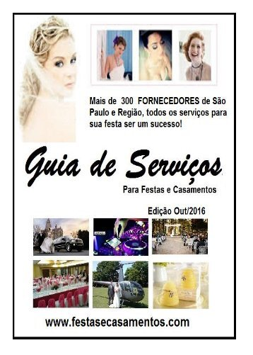 GUIA DE FORNECEDORES FESTAS E CASAMENTOS Nº 121_OUTUBRO_2016
