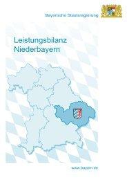 Leistungsbilanz Niederbayern - Die Regierung von Niederbayern