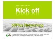 50Plus Kick-off für starke Networker
