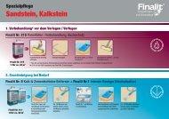 Sandstein, Kalkstein - Finalit