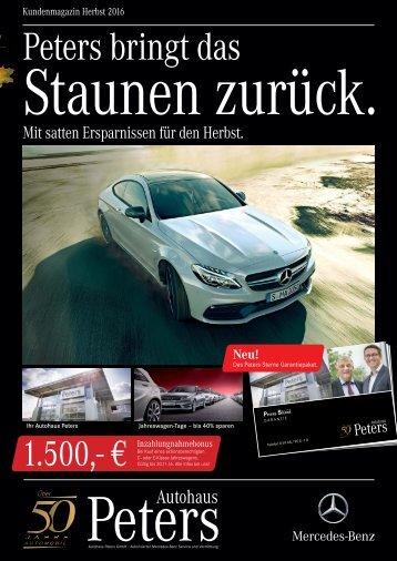 6-seitige Hauszeitung Autohaus Peters
