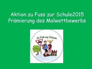 Aktion zu Fuss zur Schule2015