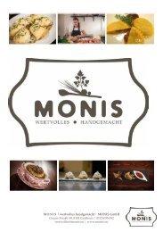 Monis Manufaktur - Gastro Broschüre