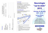 "Neurologie ""up-to-date"" 2012 - Bezirksklinikum Mainkofen"