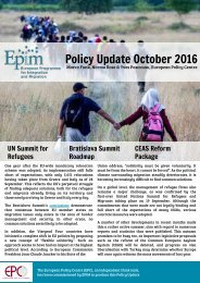 Policy Update October 2016