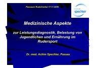 Medizinische Aspekte zur Leistungsdiagnostik, Belastung von