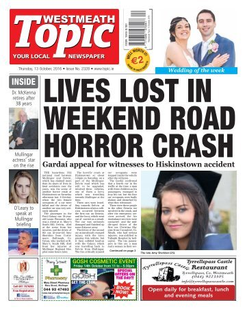 Westmeath Topic - 13 October 2016