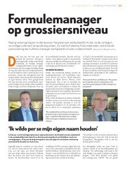 Formulemanager op grossiersniveau - Imbema Groep