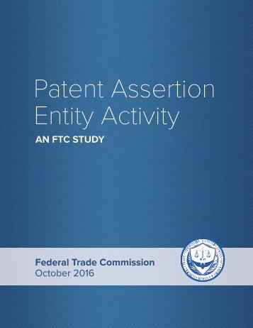 Patent Assertion Entity Activity