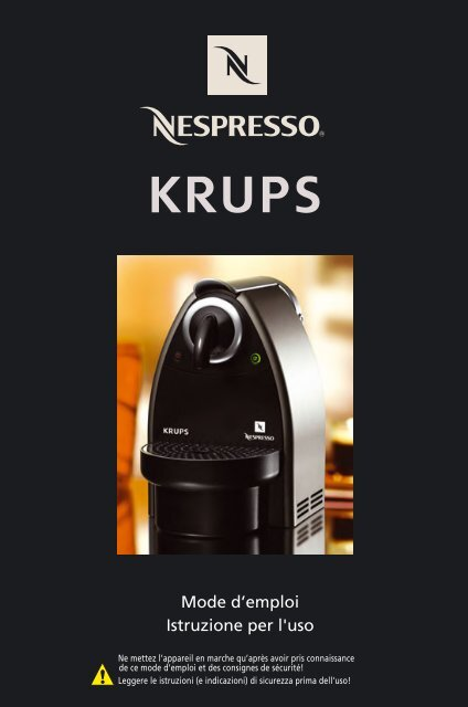 Krups YY1174 - mode d'emploi