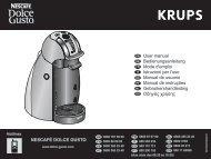 Krups Dolce Gusto Krups GENIO Mini YY1786FD - notice