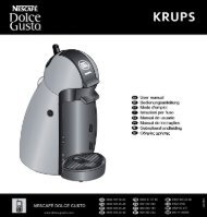 Krups YY1734 - mode d'emploi