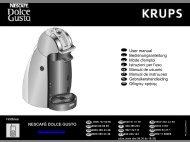 Krups NESCAFE® Dolce Gusto® Genio Titanium YY1780 - mode d'emploi