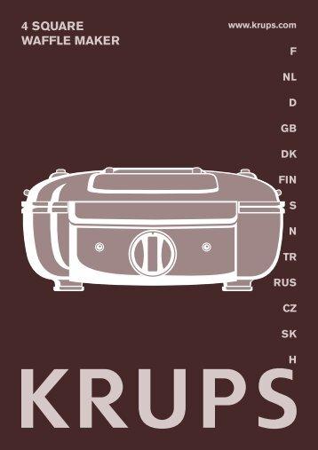 Krups Gaufrier YY8406 - mode d'emploi