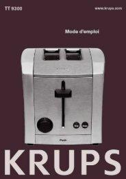 Krups TT930030 - mode d'emploi
