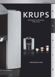 Krups Expresso Cappuccino EXPRESSO AUTOMATIC YY8124FD - mode d'emploi